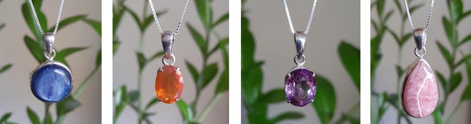 edelstenen sieraden kopen- hangers, armbandjes, kettingen, oorbellen