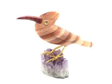 Vogel Jaspis op Amethist 70 gram