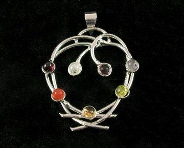 Chakra hanger (hart) Gerhodineerd Werkt op alle 7 chakra's