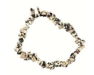 Splitarmband Jaspis Dalmatiër: rust en vastberadenheid