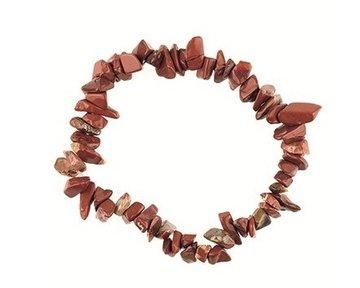 Splitarmband Jaspis (rood): voor rust en het stellen van grenzen