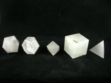 Heilige Geometrieset bergkristal XXL B kwaliteit