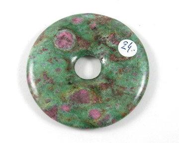 Donut 5cm Robijn in Fuchsiet