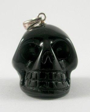 Kristallen schedel hanger Obsidiaan 10 gram