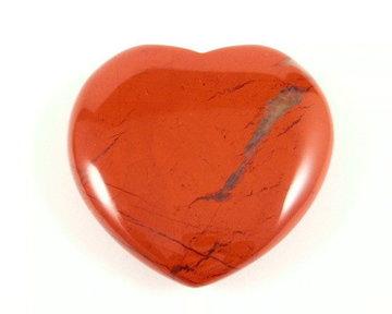 Jaspis hart rood (plat)