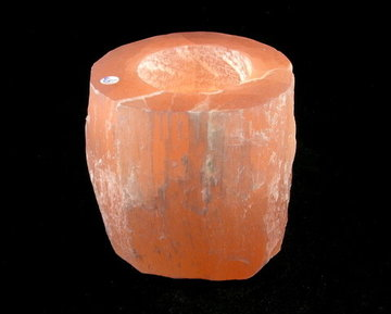 Theelichtouder oranje Seleniet groot Engelensteen