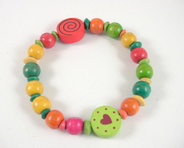 Koopjeshoek: armbandje rood/groen