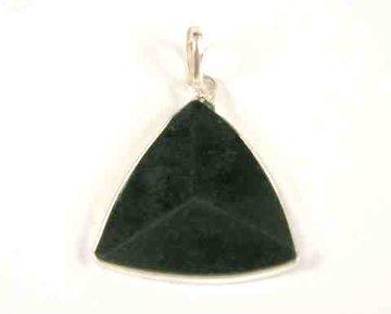 Zwarte Toermalijn hanger driehoek