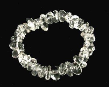 Armband Bergkristal barok (zeer helder)