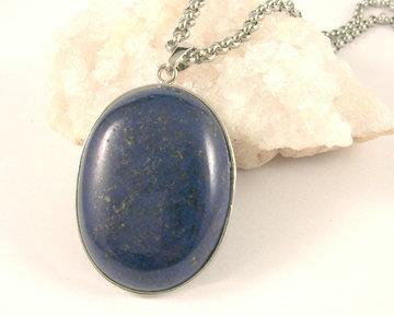 Lapis Lazuli hanger ovaal