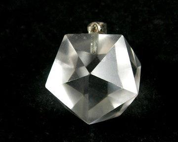 Bergkristal icosaëder hanger