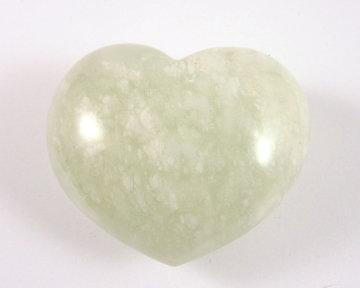Jade hart groen