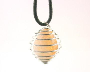 Spiraal hanger met Citrien(kwarts)