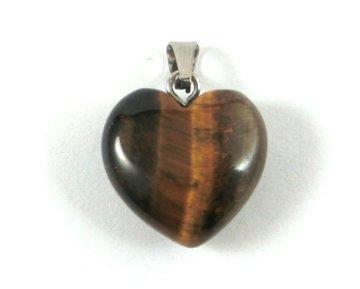 Tijgeroog hanger hartje