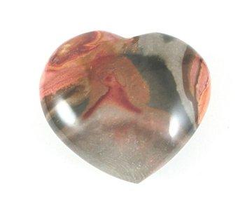 Polychroom Jaspis hart