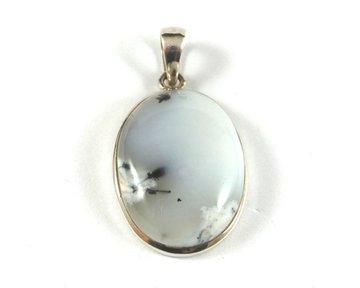 Merliniet hanger in zilver (Magiërs steen)