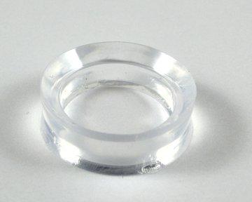 Kunststof  ring voor edelstenen bol