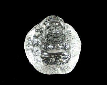 Lachende Boeddha kristalglas