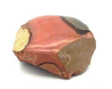 Ruwe + gepolijste Polychroomjaspis 250 gram