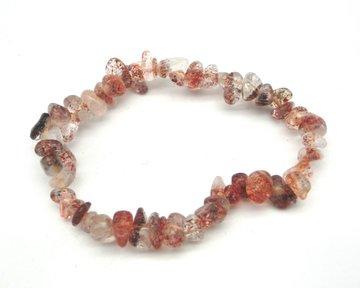 Splitarmband Bergkristal met Hematiet