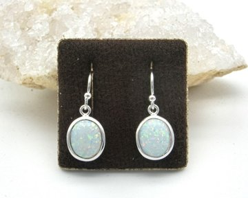Melkopaal oorbellen in zilver